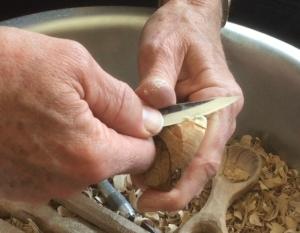 Carving away